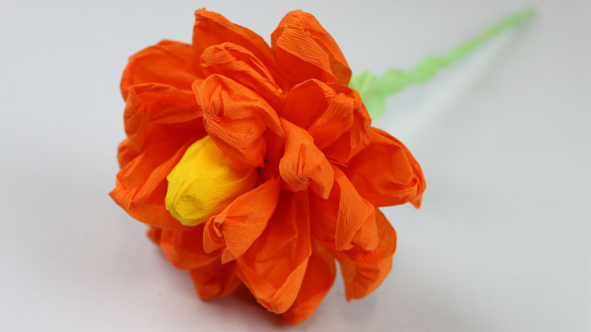 How To Make A Paper Flower Paper Crepe Flower