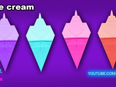 How to make a Paper Ice Cream (Tutorial) - Paper Fold | Origami for Kids