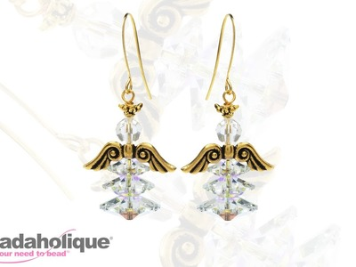 How to Make a Ruffled Skirt Holiday Angel Earring