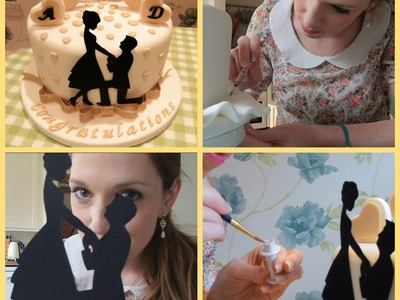How to make a silhouette engagement cake