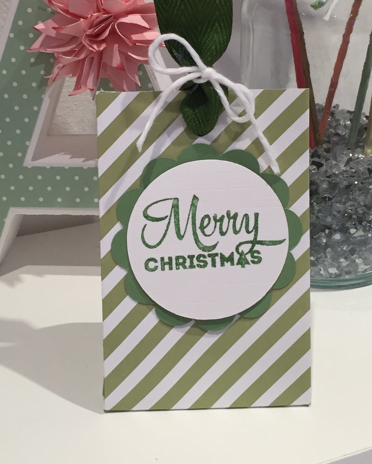 How to Make A Simple Gift Bag using Stampin Up DSP