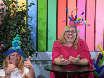 How To Make a Simple Pearls Balloon Hat