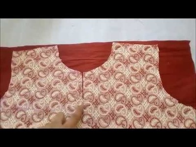 How To Make a Simple Top.Kurti designer by adding a Yoke - Easy