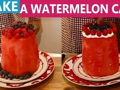 How to Make a Watermelon Cake with and without Yoghurt Icing