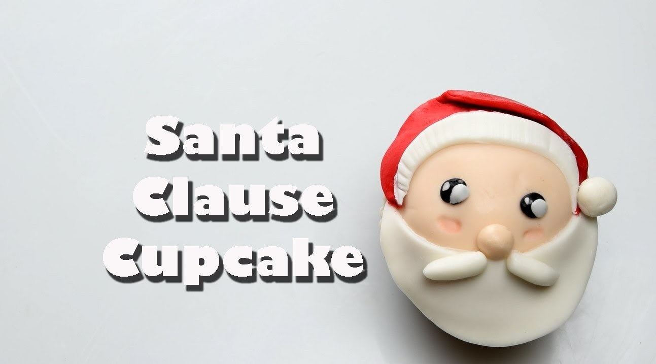 How To Make An Adorable Holiday Santa Clause Fondant Cupcake | Cake Decorating Beginners
