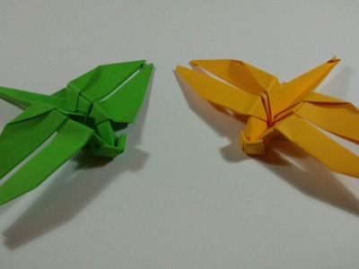 How to make an origami dragonfly