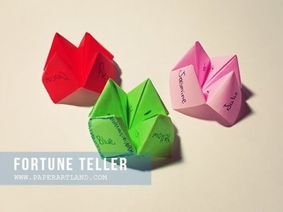 How to Make an Origami - Fortune Teller | Cómo hacer un Origami  - Adivino