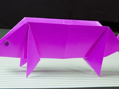 How to make an origami pig. origami easy