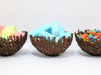 How To Make Chocolate Bowls Easy by CakesStepbyStep