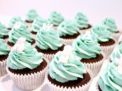 How To Make Christening. Baby Shower Cupcakes