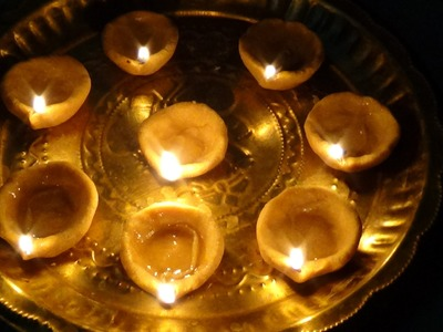 How to make diyas at home for diwali ( Home Made Diyas ) by Latha Channel