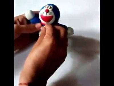 How to make Doraemon from clay easiest and quick method
