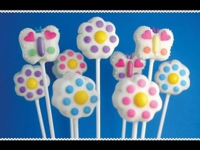 How to make Flower & Butterfly cake pops Spring Fling - Bakerella challenge