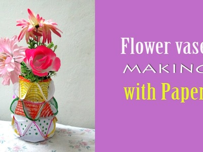 How To Make Flower Vase With Paper step by step