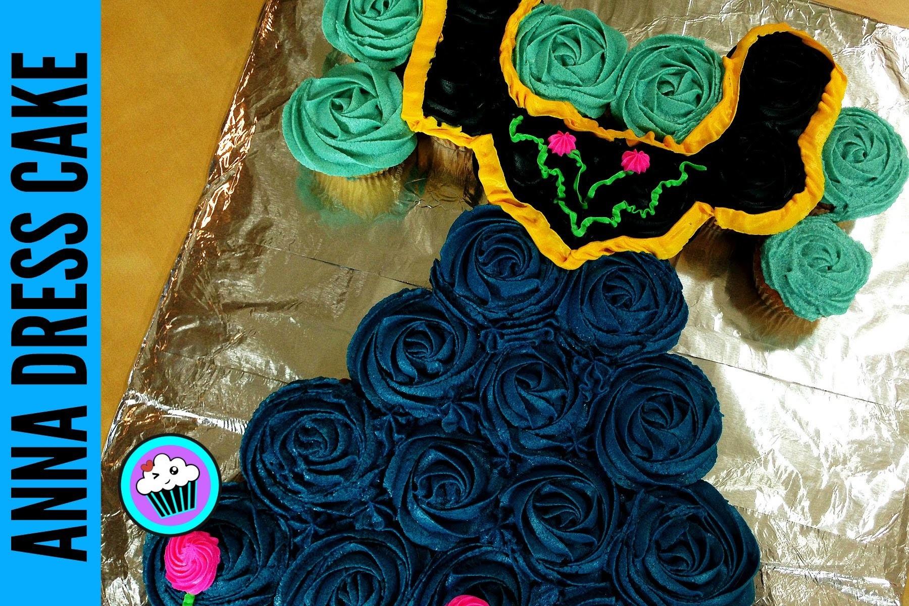 How to make Frozen Anna Dress Tear Away Cupcakes | Pinch of Luck