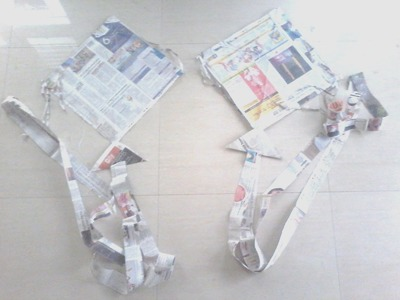 How to make kite using news paper - that flies high
