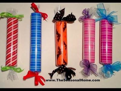 How To Make Large Faux Candy Christmas Decorations