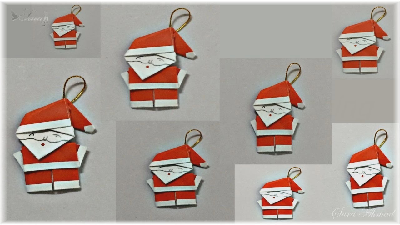 how to make origami santa claus