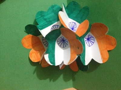 How to make pop up card Indian flag - Greeting card for kids