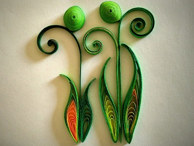 How To Make Quilled Leaves Using Paper Art Quilling - Part II
