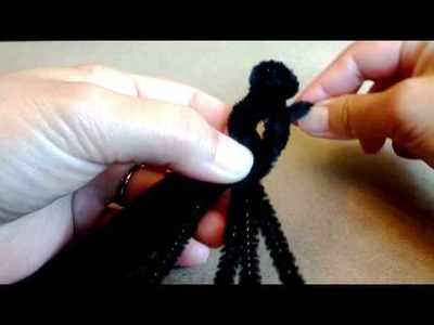 How to make spider with pipe cleaner !