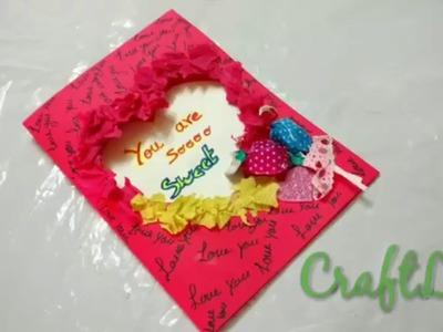 How To Make Valentine's Day Lollipop Card|Lollipop Heart Shape Card Making Idea