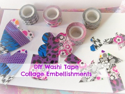 How to make washi tape collage Embellishments inspired by laurie richardson haley