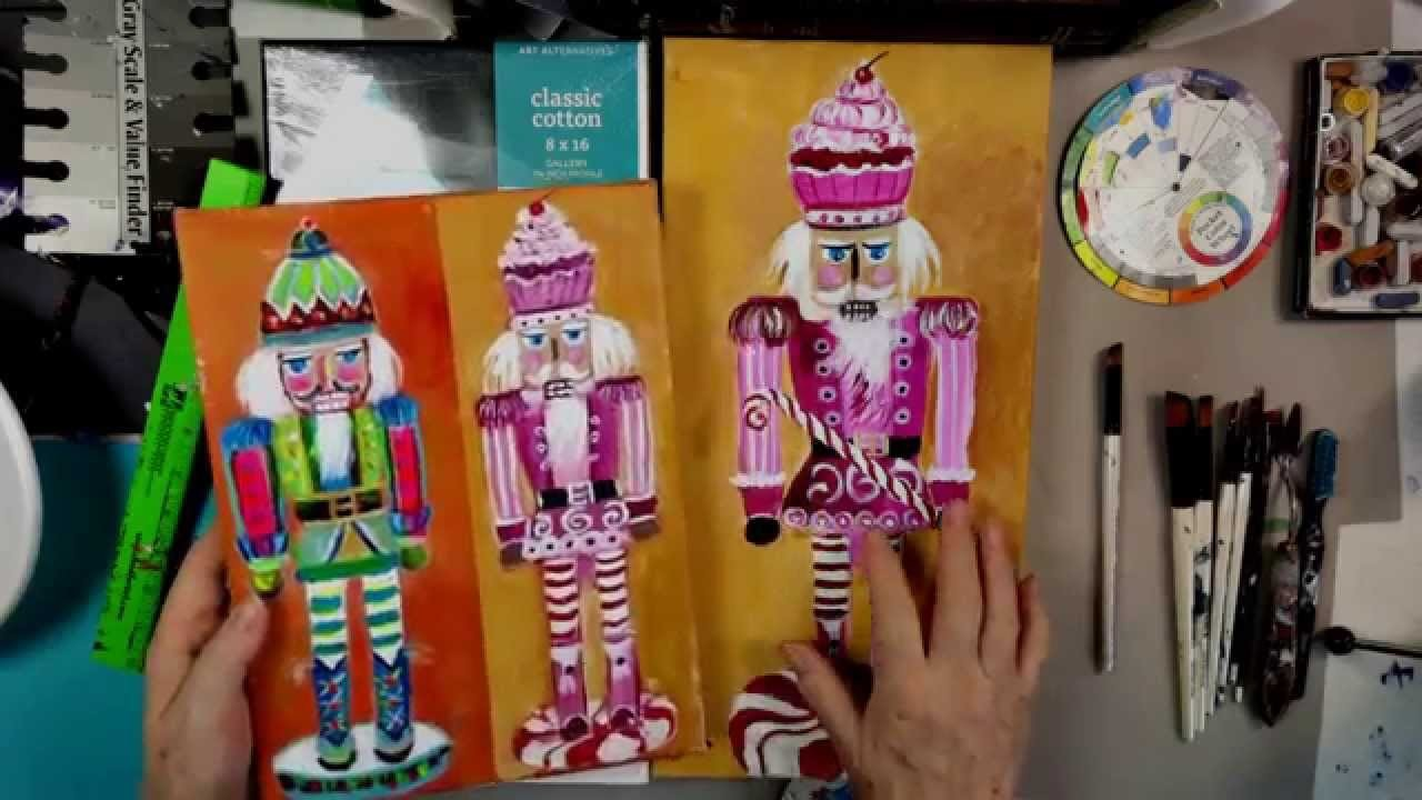 How to Paint a Nutcracker beginning  step by step tutorial