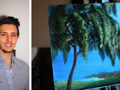 How to paint a willow tree! A basic speed painting tutorial of a willow tree for beginners