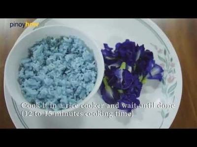 How to prepare Blue Rice   PinoyHowTo