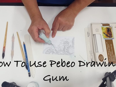 How To Use Pebeo Drawing Gum