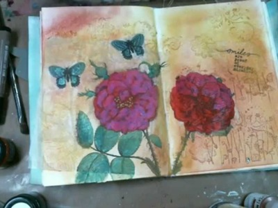 How to use Pretty Napkin in your Art Journal