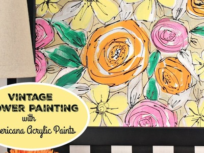 HOW TO: Vintage Flower Canvas