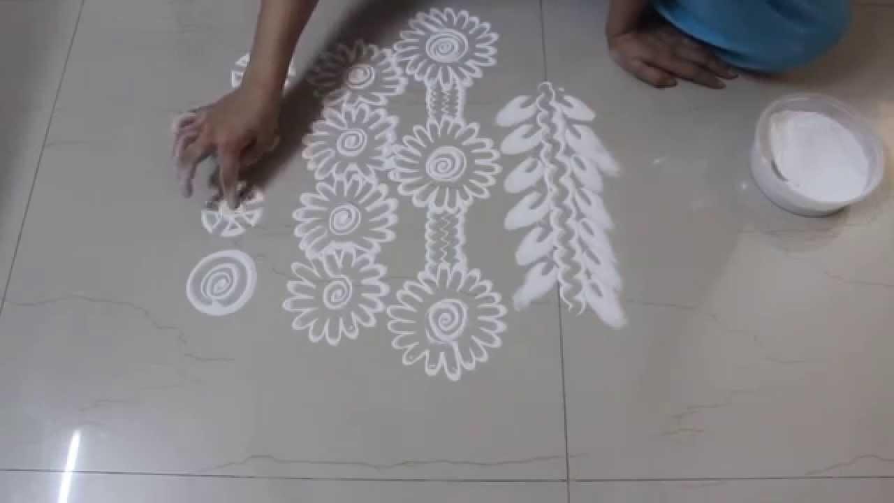 Instant  Rangoli Designs  - How to draw borders in Rangoli