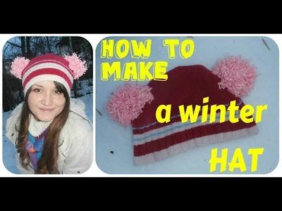 Kako napraviti zimsku kapu. How to make a winter  hat