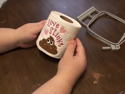 Kris Rhoades Digitizing - How to Embroider on Toilet Paper