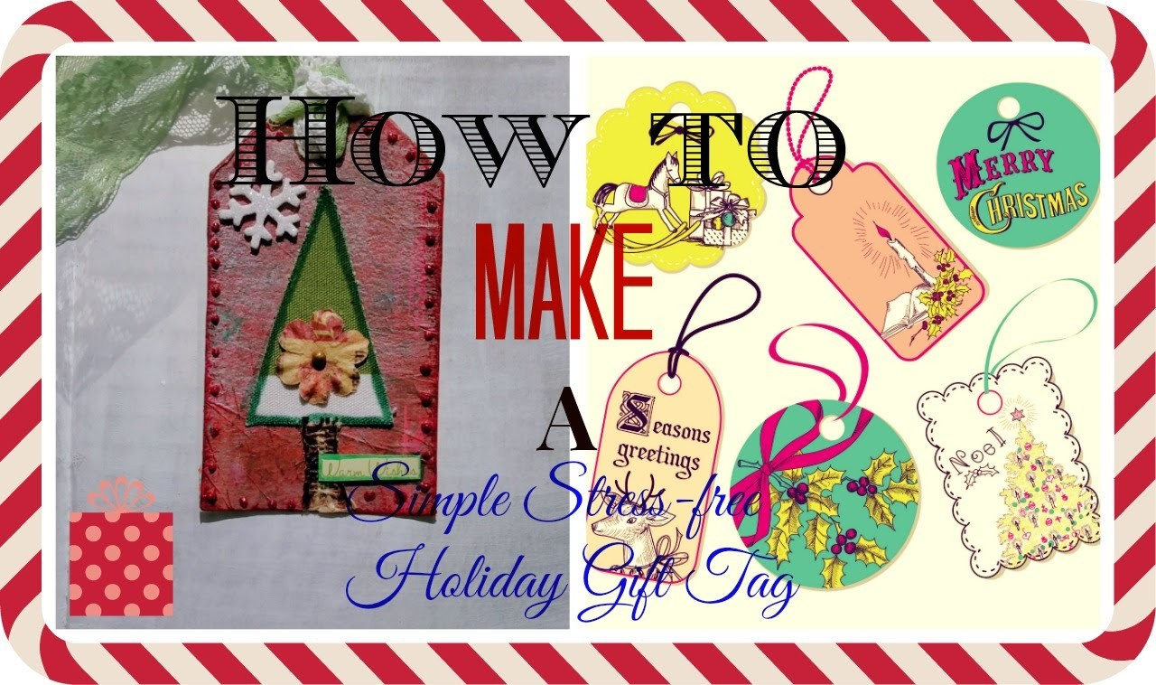 #LoveWinterArt #CreativeArtsCollaboration How to Make a Simple Stress-free Holiday Gift Tag