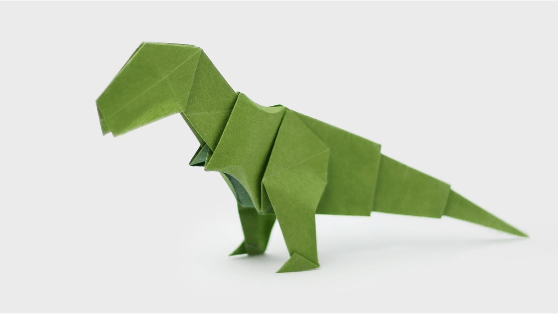 Origami Dinosaur - T-Rex - How to make an Origami Dinosaur ... - photo#12