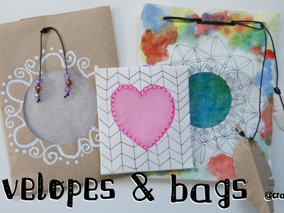 Original gift wrapping ideas: How to make cute paper bags and envelopes.