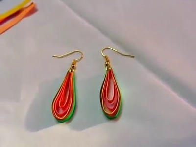 Paper Crafts Ideas -How to make Water Proof Quilling paper Oval shaped earrings