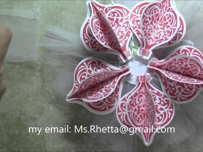 Stampin Up 3D Ornament Keepsakes Process. How to Video, Christmas 2015 project series