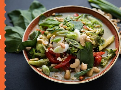 Thai Green Curry Recipe - how to make - quick and easy - The Happy Pear