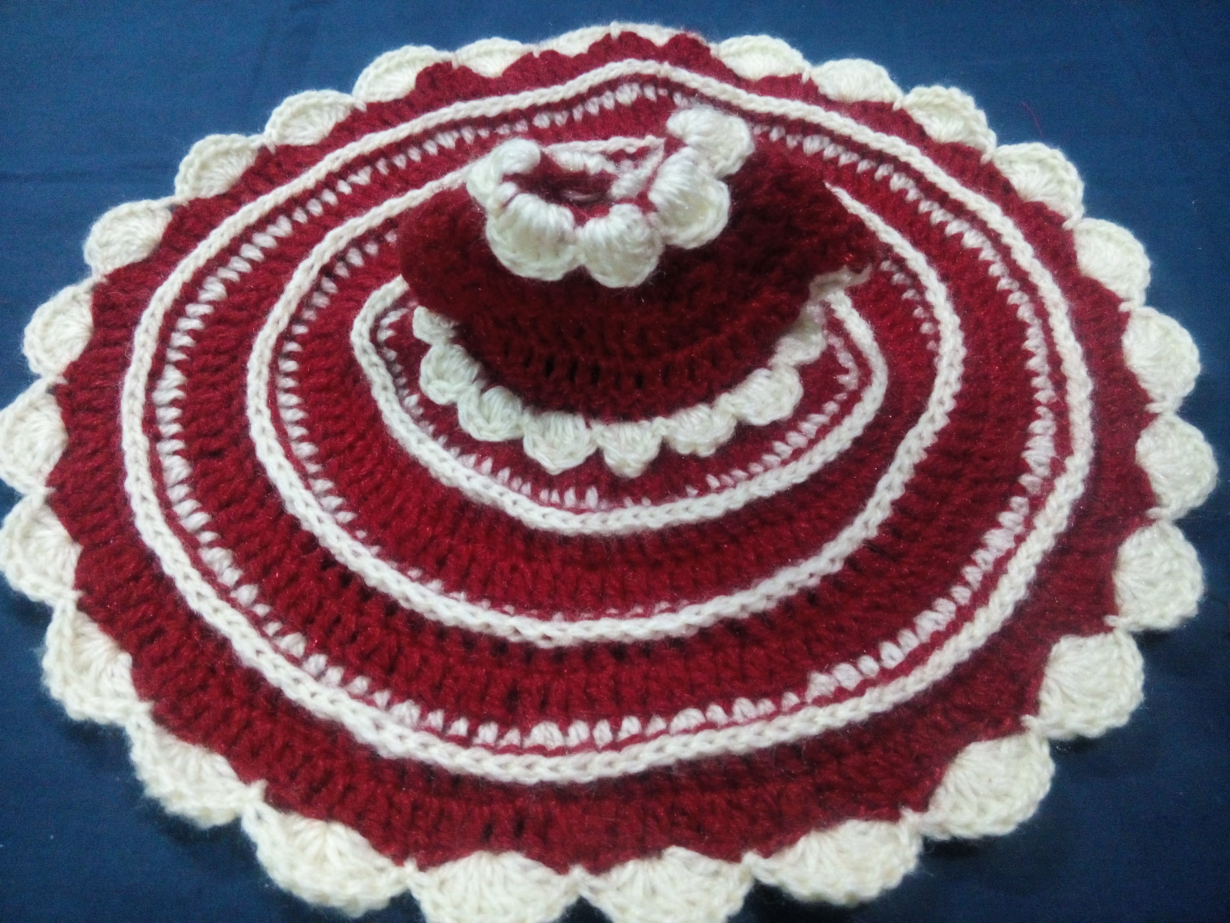 Back Post Stitch Winter dress of Bal gopal - DIY - How to make poshak bal gopal