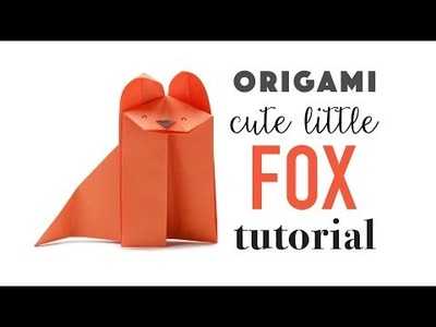 Cute Origami Fox Instructions - DIY - easy!