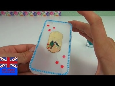 DIY Decorate Mobile Case Tutorial: How to decorate an empty Phone Case with Nail Polish