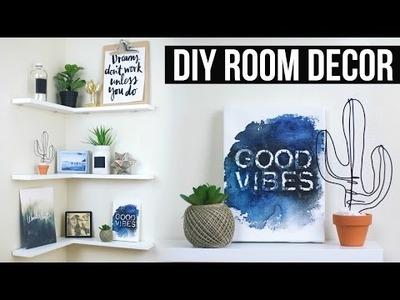 DIY Floating Shelves + Room Decor | Pinterest Inspired