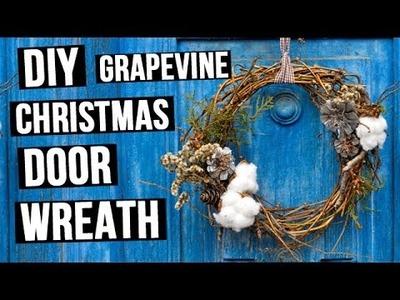 DIY Grapevine Christmas Door Wreath