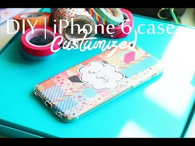 DIY   iPhone 6 case with washi tape