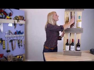 DIY Maak je eigen pallet wijnrek | Make your own pallet wine rack