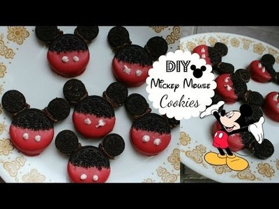 DIY Mickey Mouse Cookies!